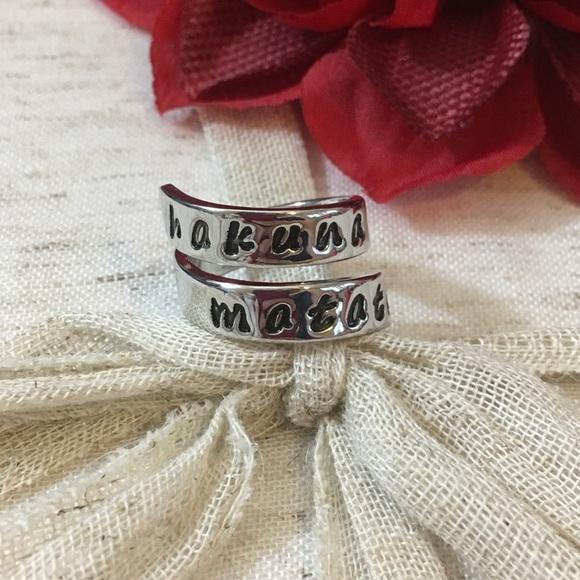 Jewelry Hakuna Matata Wrap Style Silver Ring Poshmark